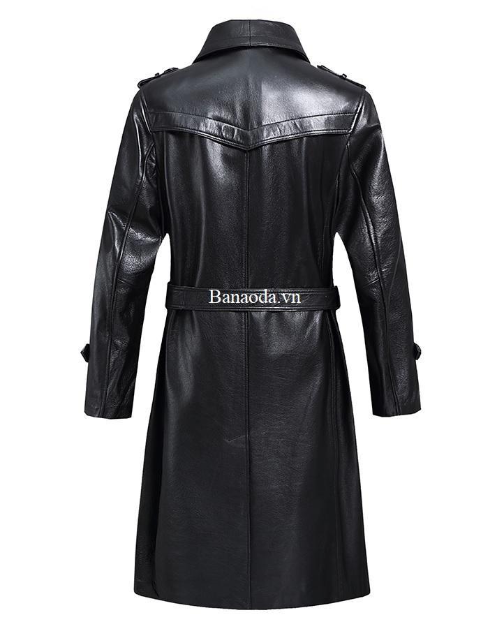 áo choàng da nam